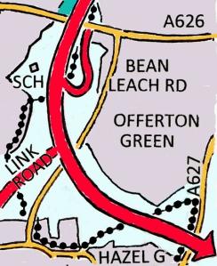 Map of bypass through Offerton.