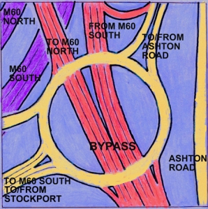 Map of remodelled Crookilley way roundabout.