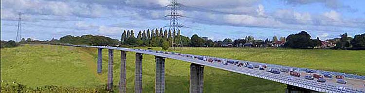 High-level bridge towards Bredbury Green/Romiley.