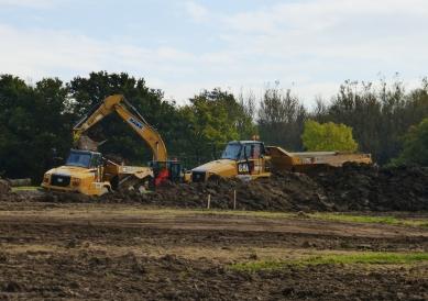 Bulldozers near A6