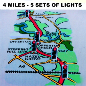 Bypass map showing traffic lights.