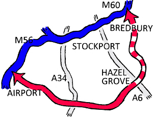 Bypass and Stockport major roads