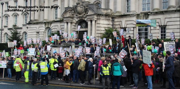 Green Belt protest at Stockport Town Hall