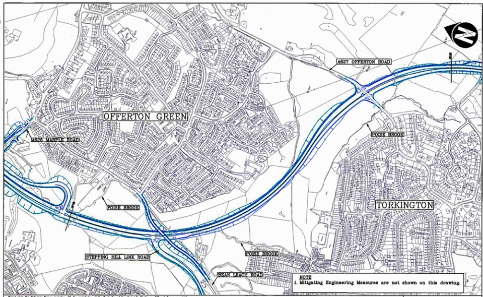 Foggbrook to Hazel Grove Bypass map