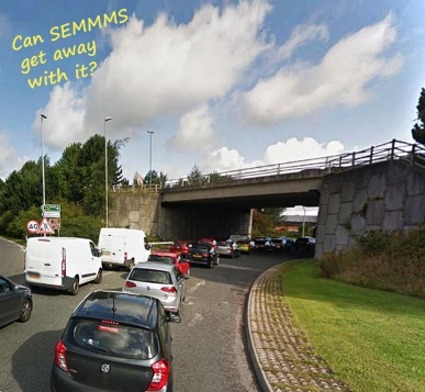 A34 A555 west traffic funny_funny