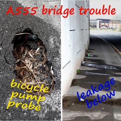 A555 Earl Road leak