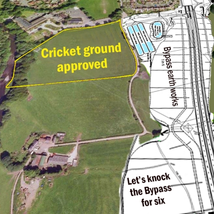 cricket ground aerial plus road