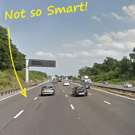 Smart motorway 2 with numbers