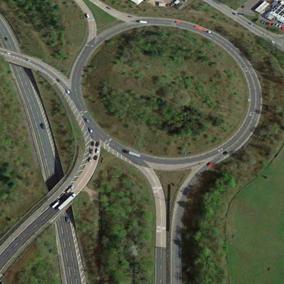 Crookilley Way Roundabout aerial