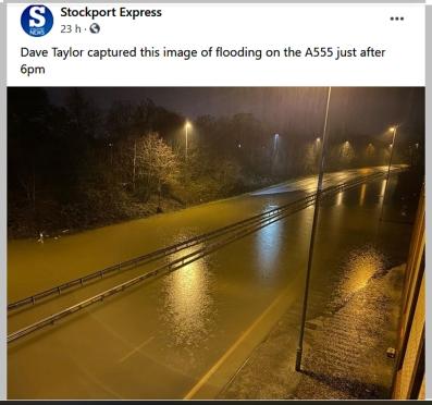 A555 flood Jan 2021